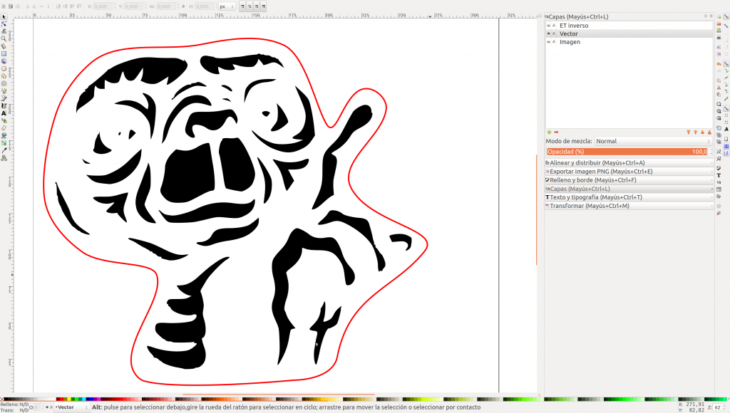 ET vectorizado en Inkscape