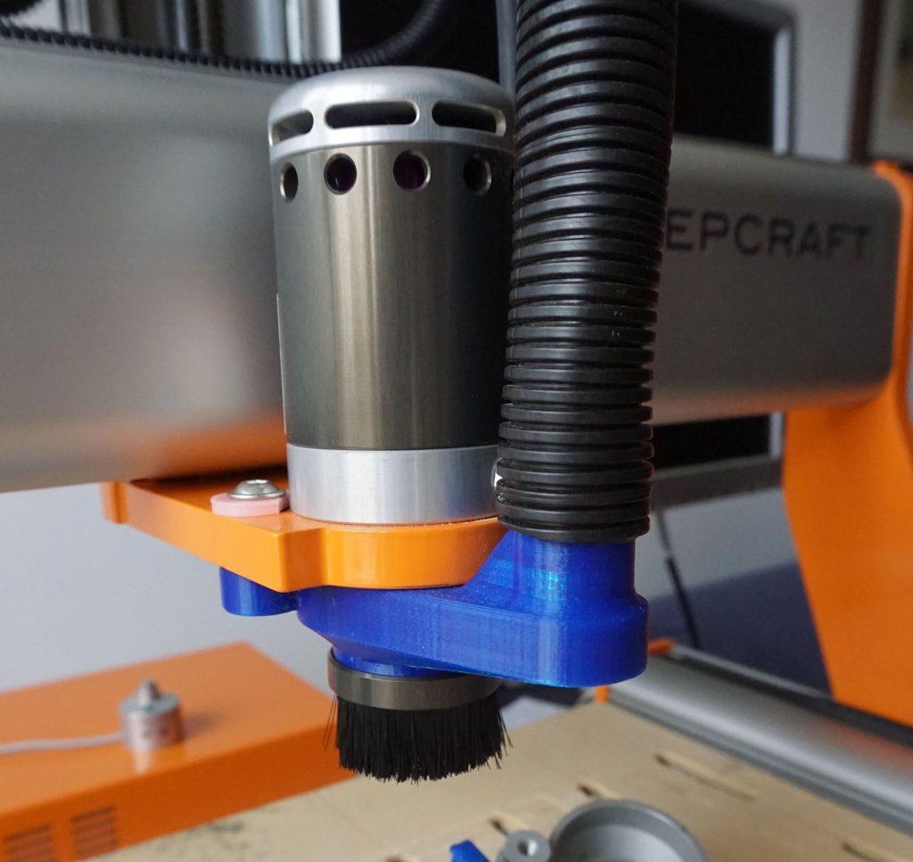 Stepcraft HF500 spindle vacuum adapter