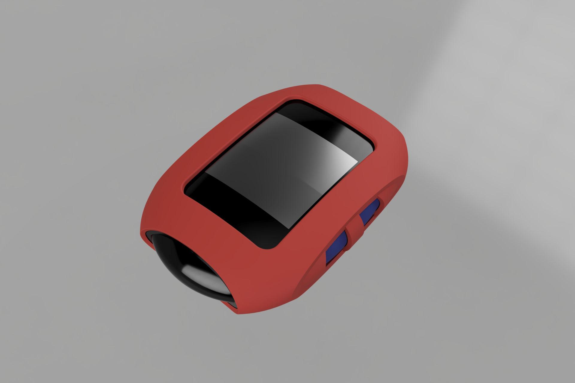 Funda medidor render en Fusion 360