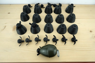 Impresion 3d granadas M39 recreacion historica