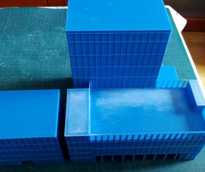 Impresion 3d maqueta edificio para arquitectos lijada