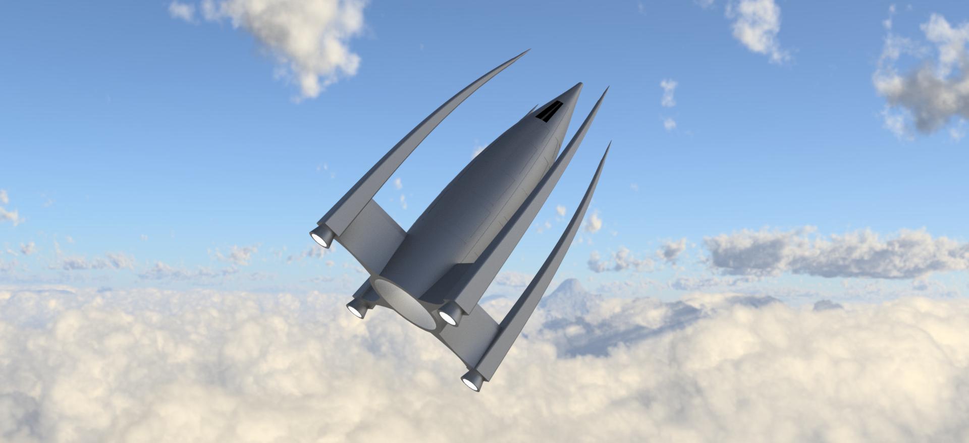 Práctica nave tema 8 Render Fusion 360