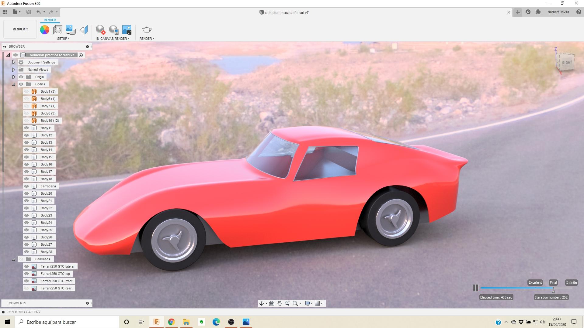 Práctica Fusion 360 Ferrari 250 GTO
