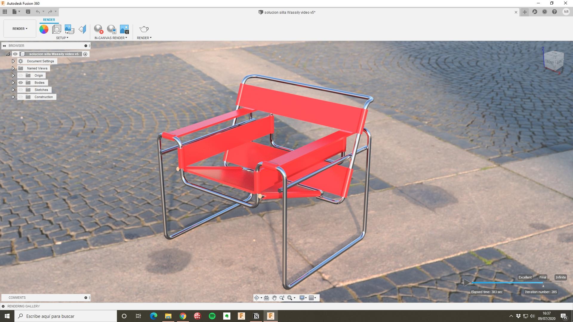 Silla Wassily screenshot Fusion 360