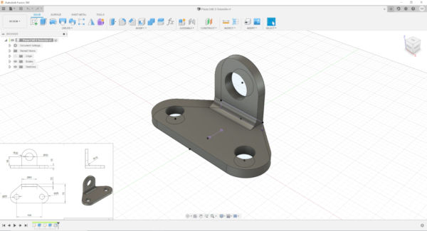 Segundo diseño Pieza CAD