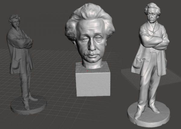 Meshmixer Einstein antes y después